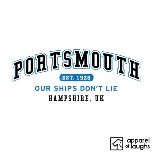 Portsmouth City Men's T-Shirt Women's Hoodie British Places White