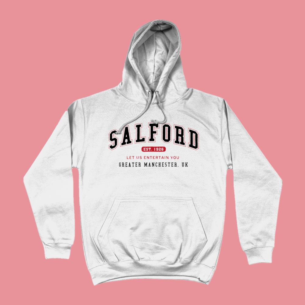Salford City Men's Apparel Women's Hoodie British Places White