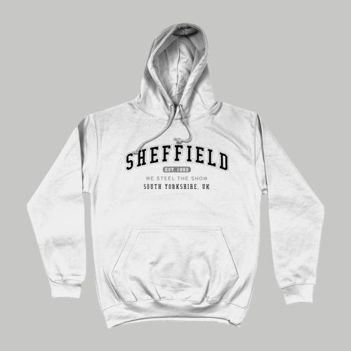 Sheffield City Men's Apparel Women's Hoodie British Places White