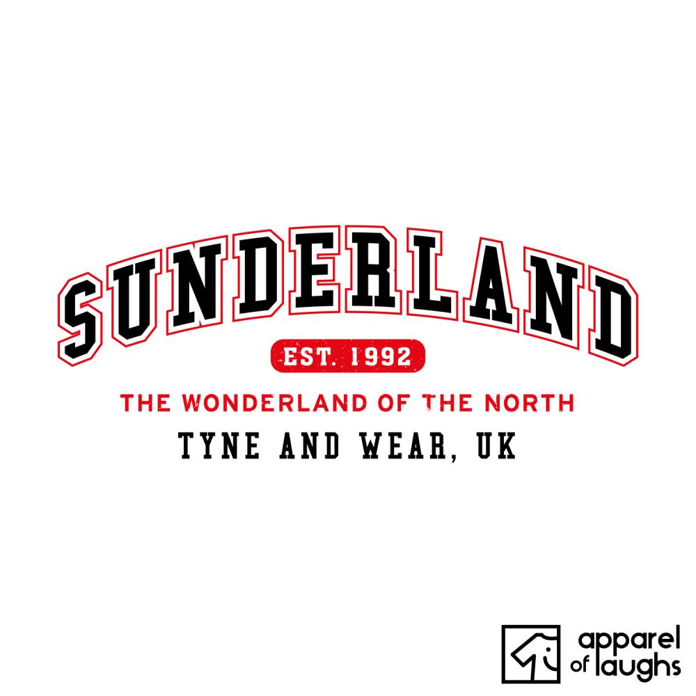 Sunderland City Men's T-Shirt Women's Hoodie British Places White