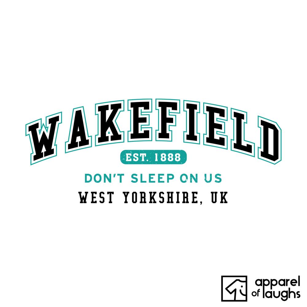 Wakefield City Men's T-Shirt Women's Hoodie British Places White