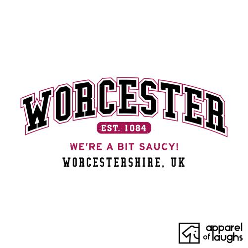 Worcester City Men's T-Shirt Women's Hoodie British Places White