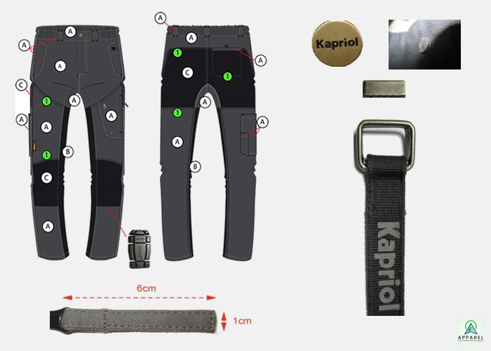 Niger Pant Polyester Cotton Grey Black by Apparel Solutions