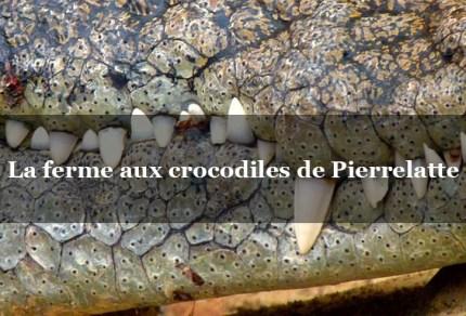 ferme crocodiles drome gite