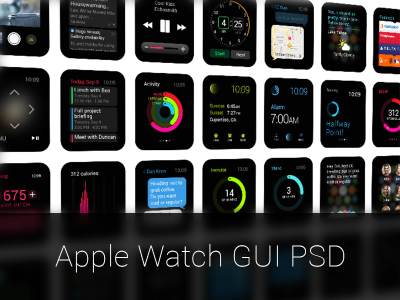 42 Apple Watch Design Resources Includes Mockups Ui Kits