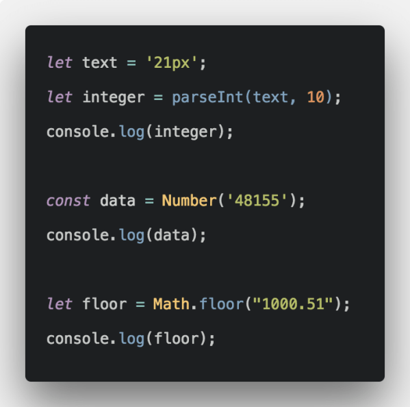 How To Convert String To Number In Javascript