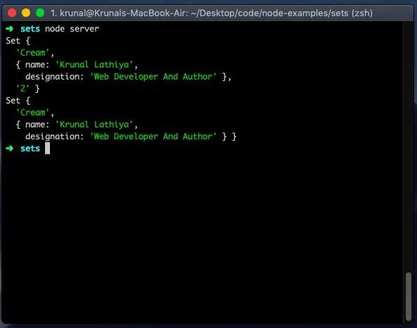 Javascript Set Example   Sets in Javascript