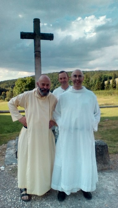 Father Giles and Brother Michael with Michael Monot, owner of Val-des-Choux