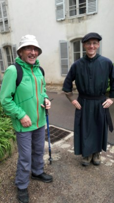 A welcome from one of the monks at St Joseph de Clairval Abbey in Flavingny