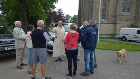 Blessing from Fr. Benedict prior to departure