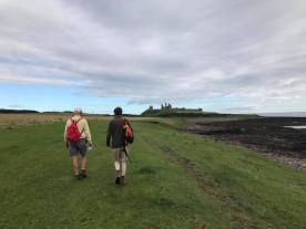 On the Northumberland Coastal Path at Dunstanburgh Castle