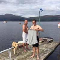 Time for a quick dip in Loch Lomond