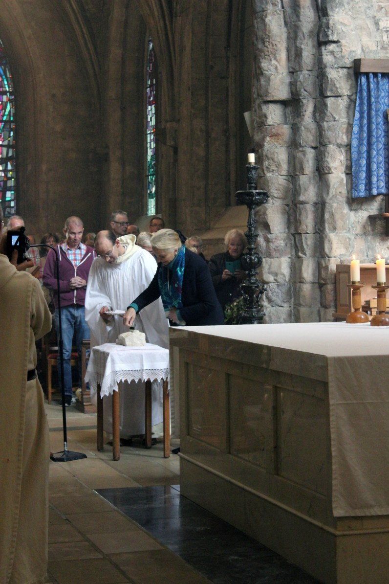 Dedication of the stone from Val des Choues by H.R.H. Princess Michael of Kent