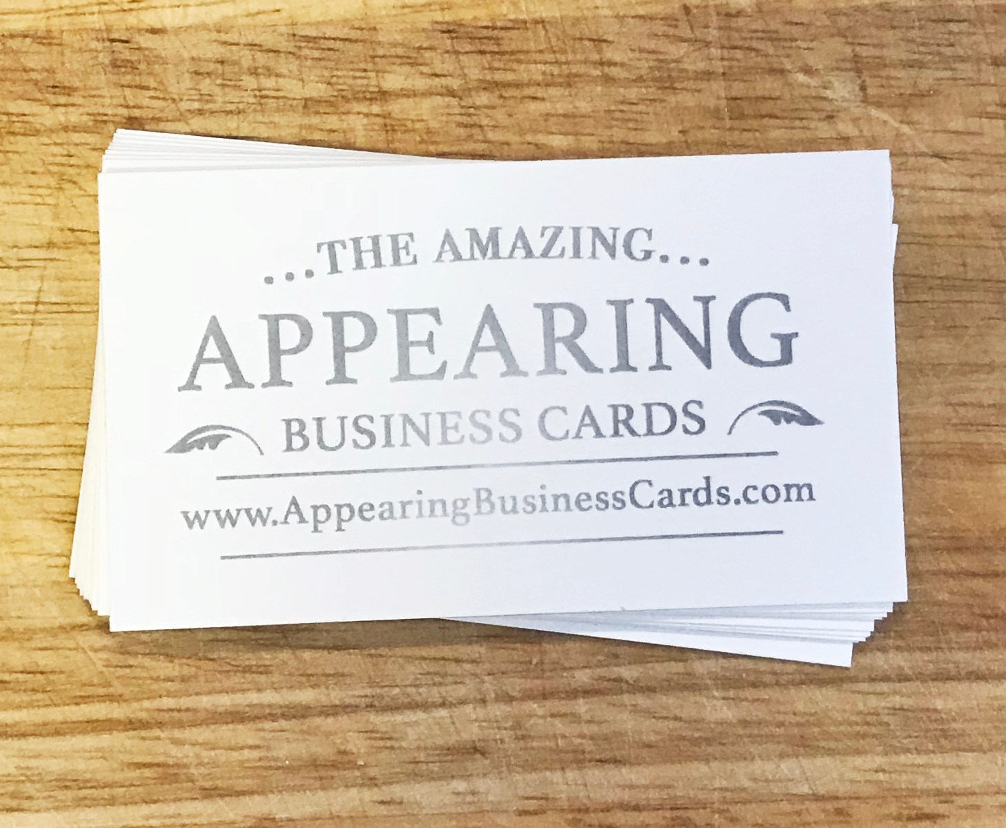Create Your Own (Double Sided) – Appearing Business Cards