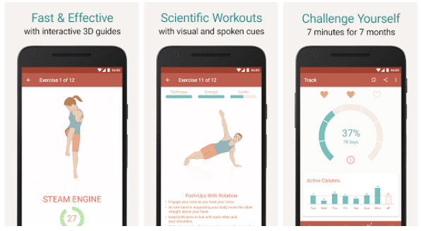 Seven - 7 Minute Workout Training Challenge : App Review