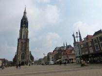 De Markt, met de Nieuwe Kerk, in Delft