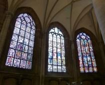 Glas-in-lood ramen in de Nieuwe Kerk