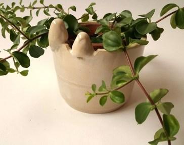 vogelpot, klein plantenpotje