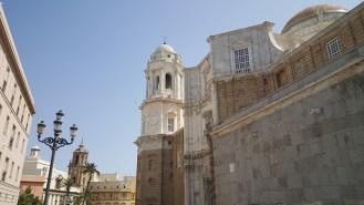 De kathedraal van Cadiz.