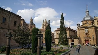 De universiteit en de kathedraal van Salamanca.