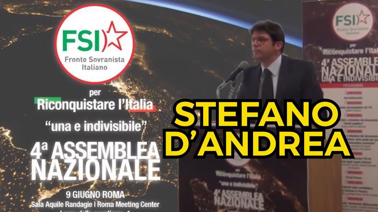 Relazione di Stefano D'Andrea alla 4° Assemblea nazionale del Fronte Sovranista Italiano