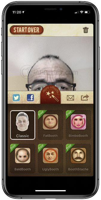 Apps con diferentes efectos faciales