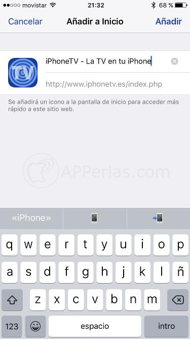 App iPhone TV