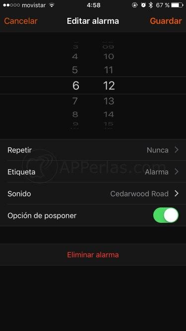 Canción en la alarma del iPhone