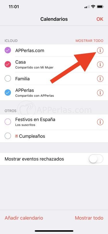 Cómo compartir calendarios en iOS
