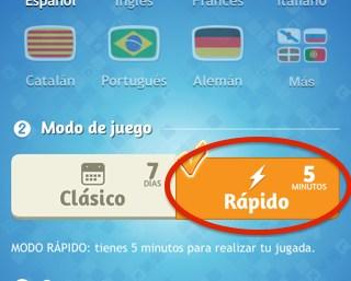 Partidas rápidas en APALABRADOS, lo nuevo de la app