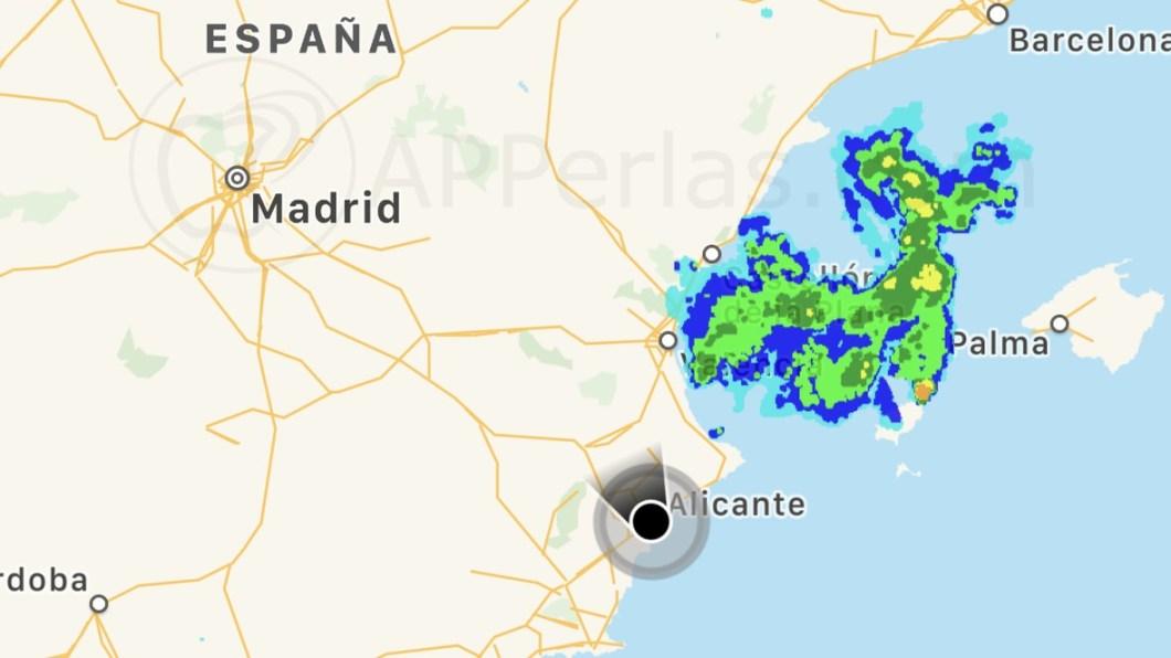 App de aviso de lluvia