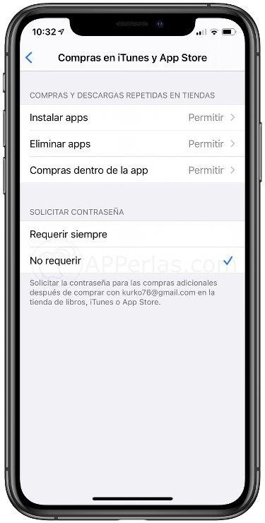 Ajustes en la App Store