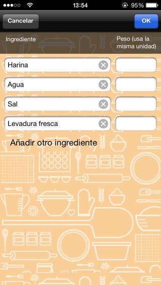 Porcentaje de Panadero la app del pan