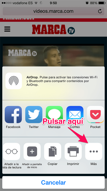 vídeo desde Safari 1