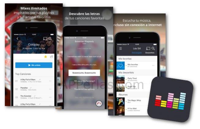 Deezer para disfrutar de música en iPhone, iPad y iPod TOUCH