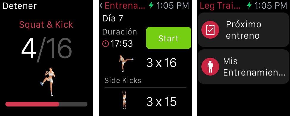 Runtastic leg trainer watch compo