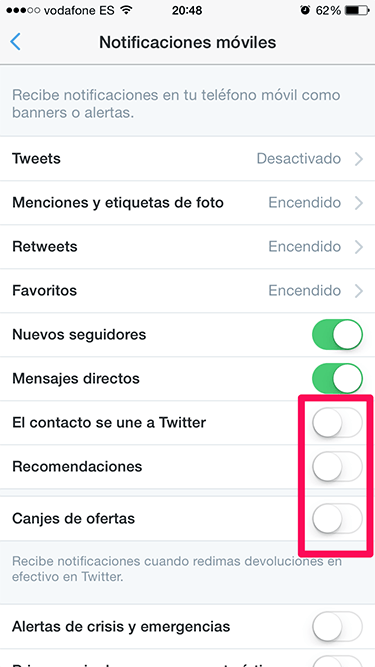 notificaciones en Twitter 3