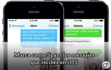 mensajes como Spam