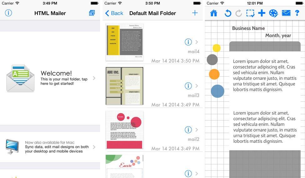 Email designer compo