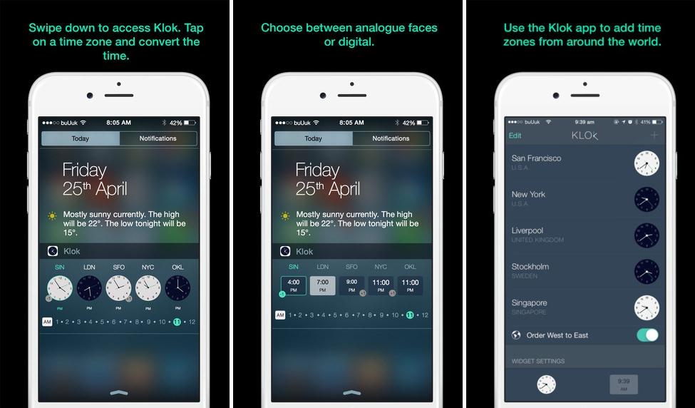 Klok app iphone