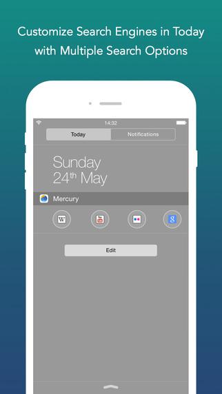 Mercury web widget