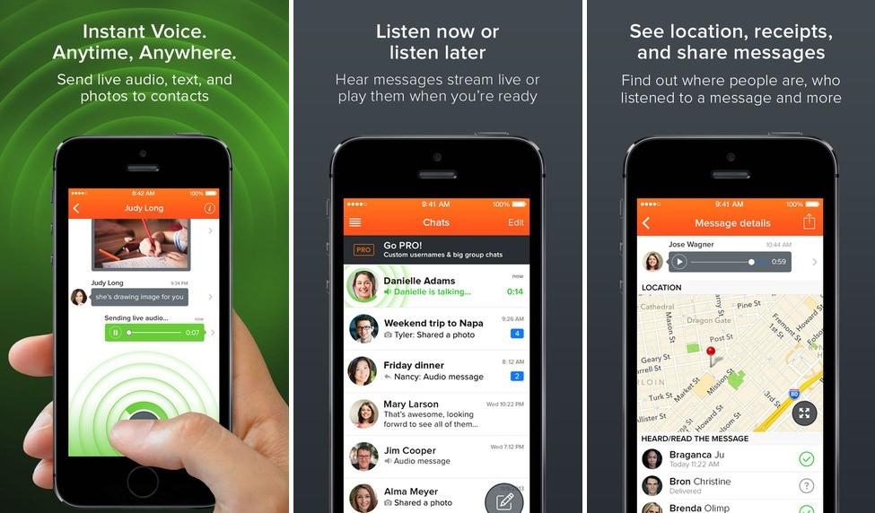 App Voxer walkie-talkie iphone