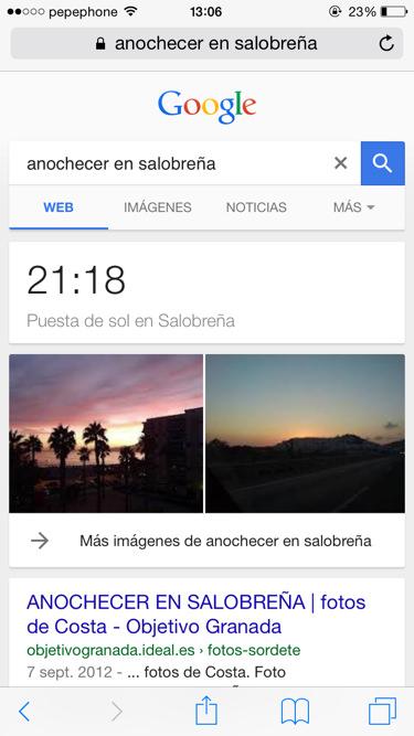 Funciones de google anochecer y amanecer