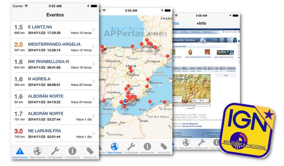 Ign Sismología app terremotos