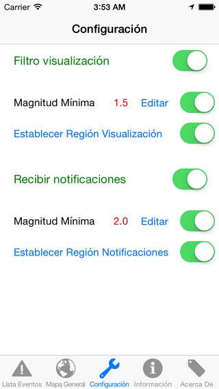 Ign sismologia configuración