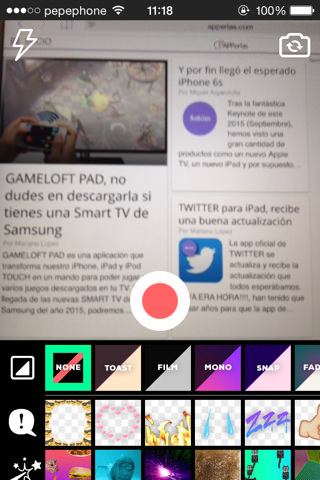 Giphy Cam app para crear gif