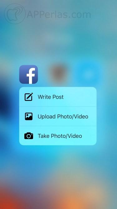 Facebook eliminar 3D Touch 2