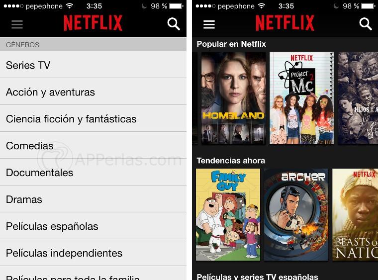 Netflix películas y series gratis