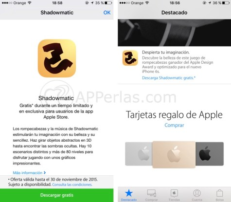 Shadowmatic gratis apple 2.1