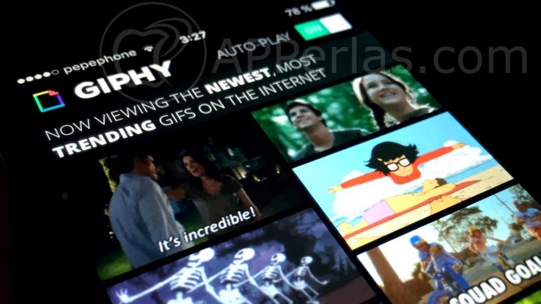 App GIPHY para iOS
